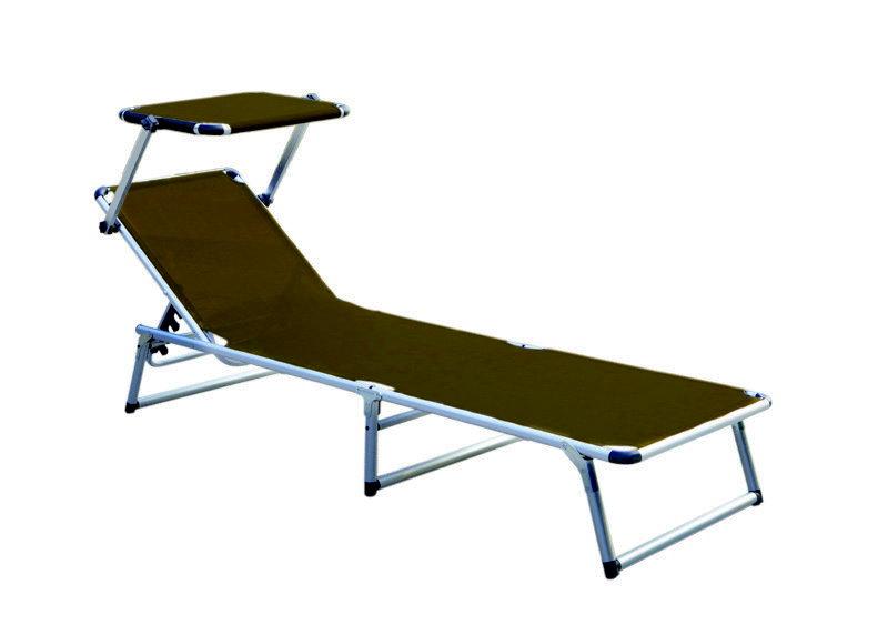 alu sonnenliege mit sonnendach gartenliege campingliege. Black Bedroom Furniture Sets. Home Design Ideas
