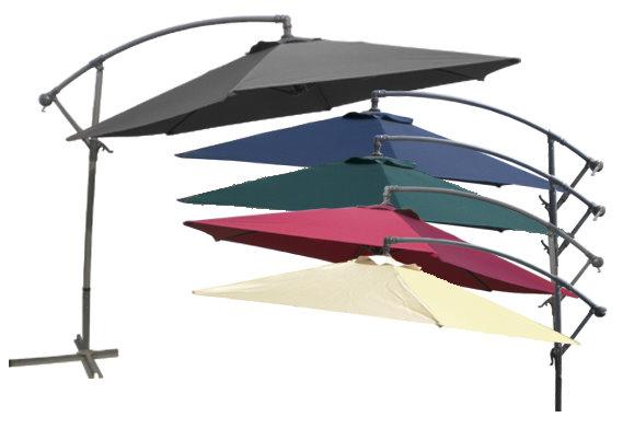 ampelschirm sonnenschirm 3m mit kurbel und stahlfu 7. Black Bedroom Furniture Sets. Home Design Ideas